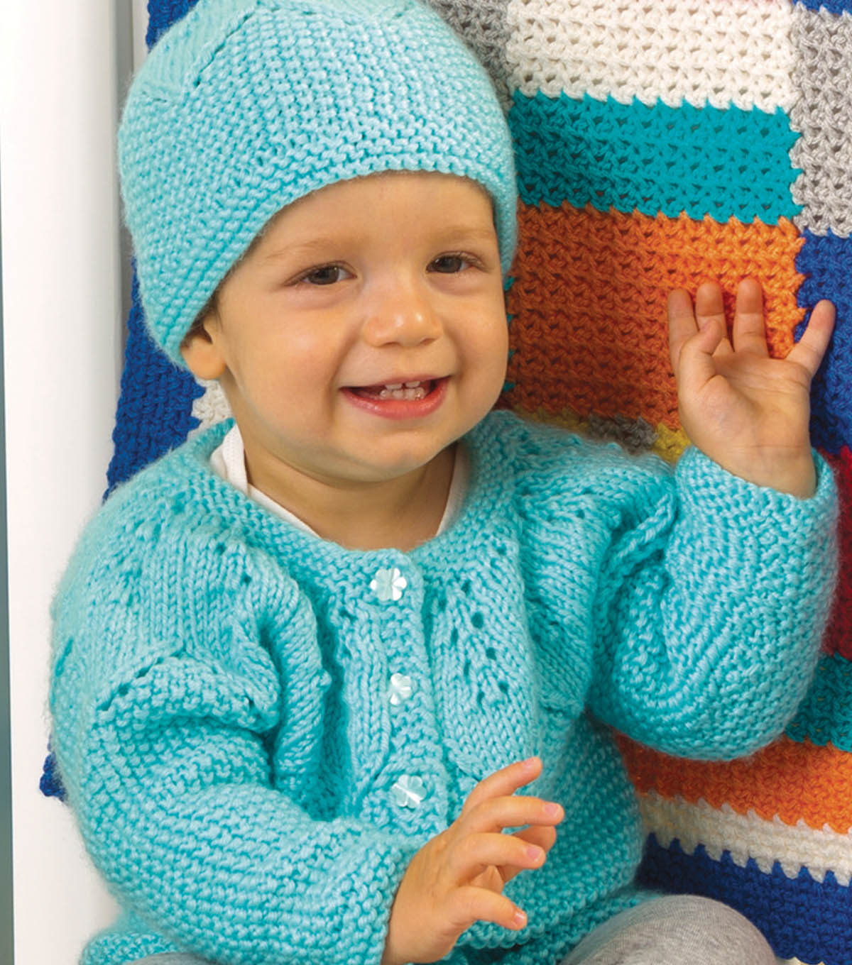 Star Bright Baby Cardigan and Hat