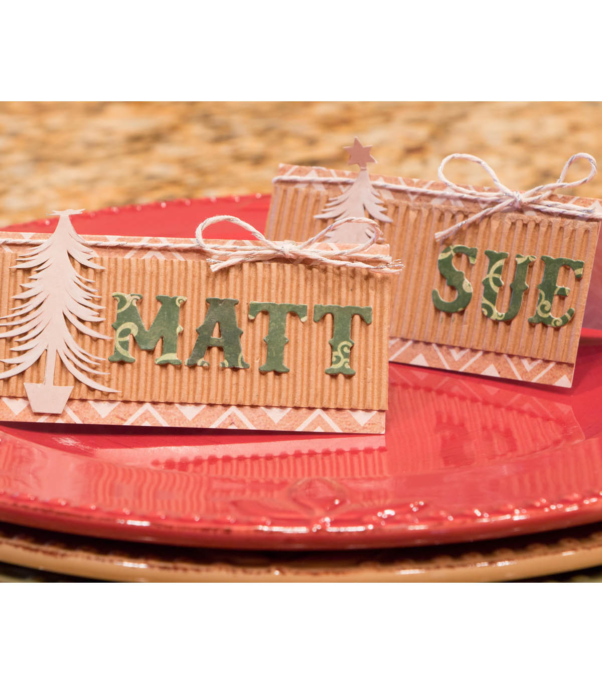 Winter In the Woods Place Card Holders