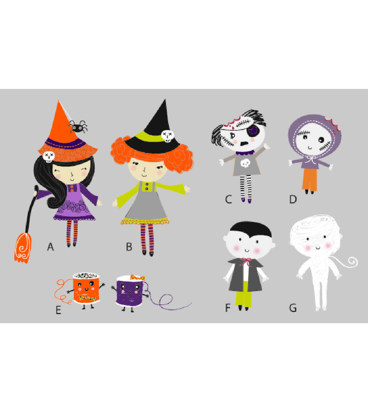 Halloween Characters Printable 1