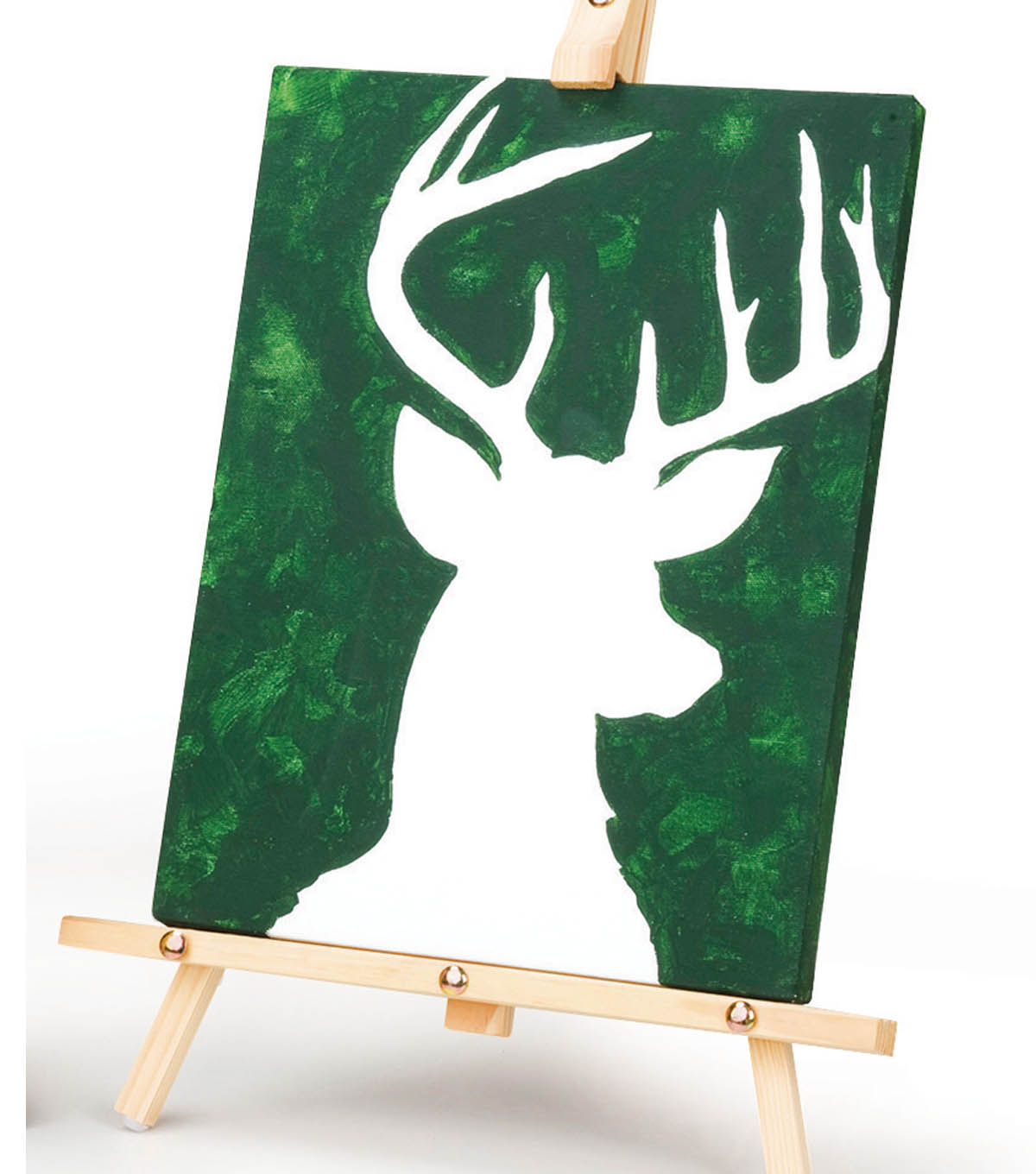 Painted Deer on Canvas