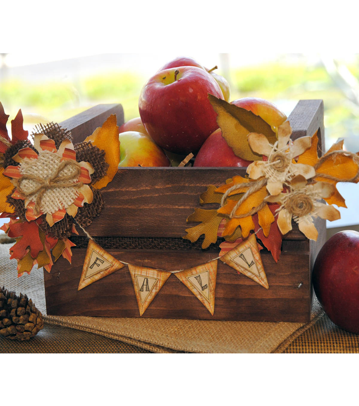 Fall Apple Crate