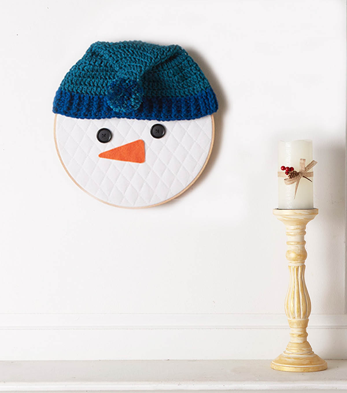 How To Make A Snowman Embroidery Hoop