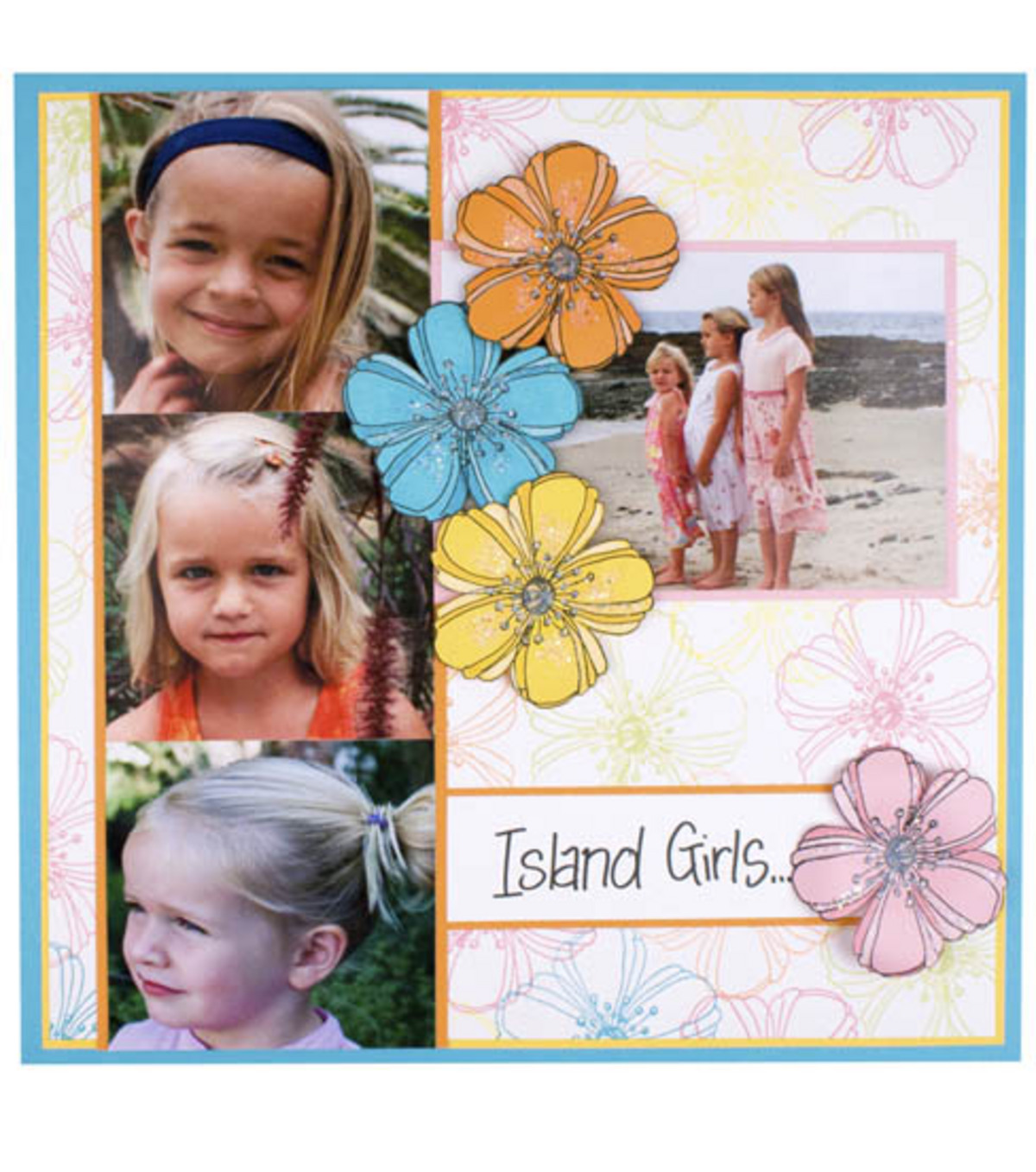 Island Girls Scrapbook Page