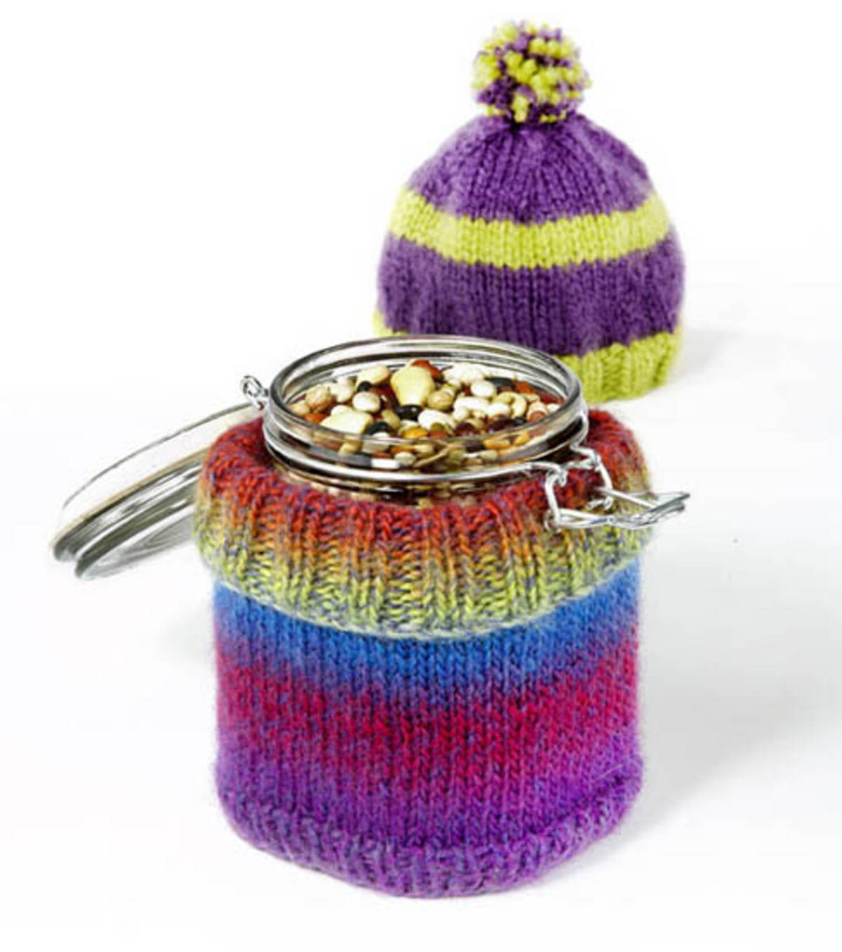 Soup Jar Hat and Sweater Cozy