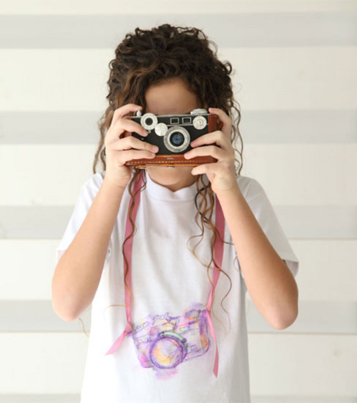 Picture Perfect Watercolor Camera Tee