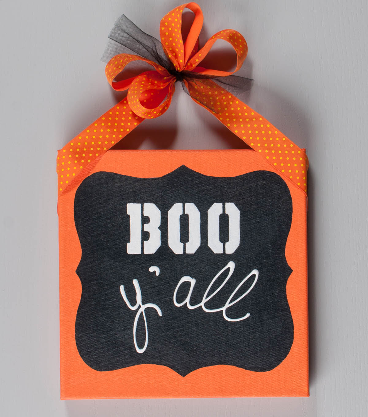 Boo Y\u0027all Quote Art Canvas