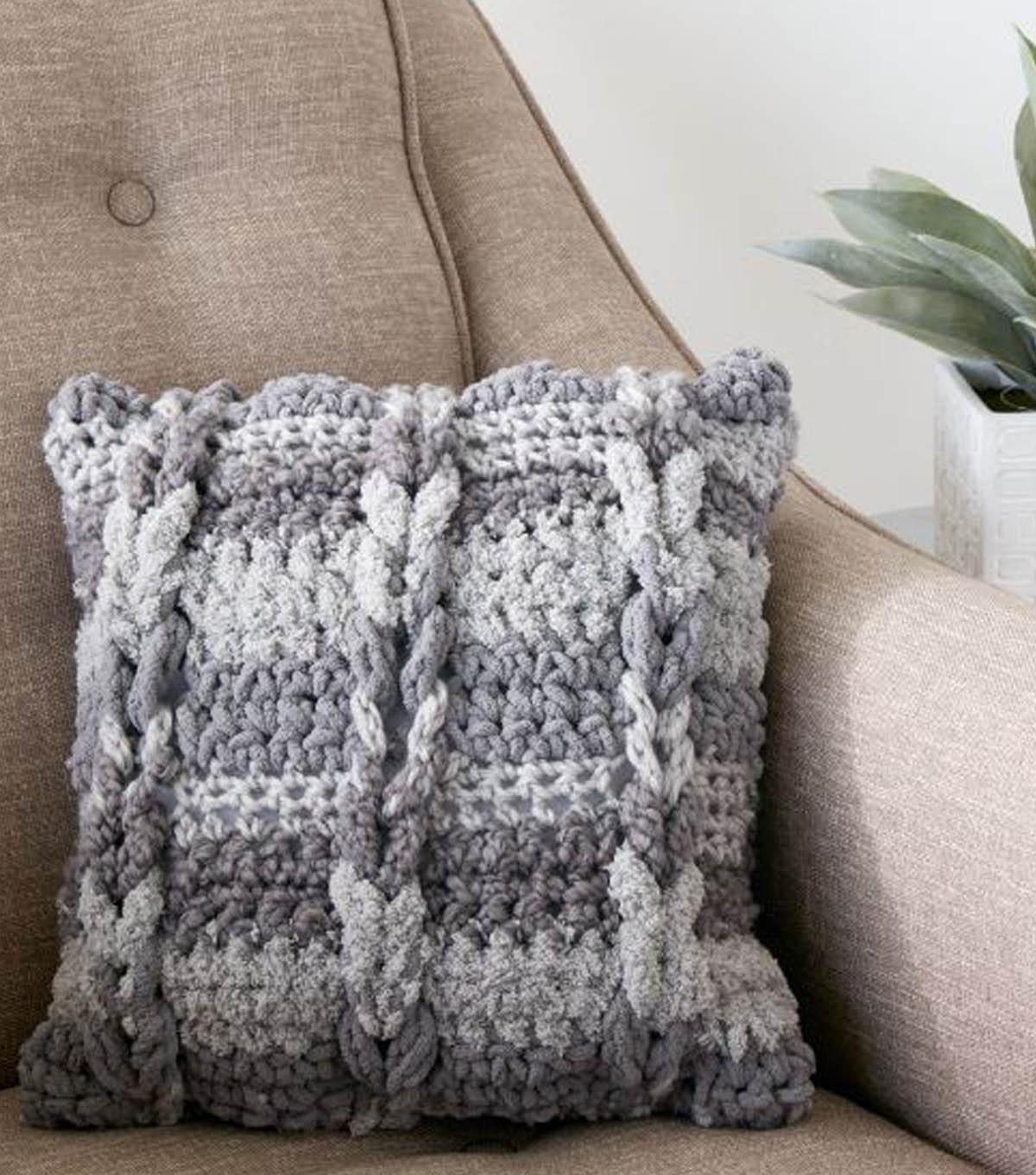 How to crochet a cable pillow joann how to crochet a cable pillow bankloansurffo Choice Image