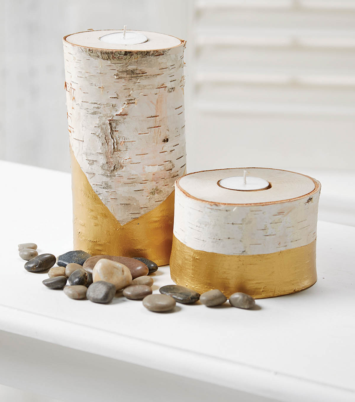 Makers Guide: Gold Dipped Birch Candles