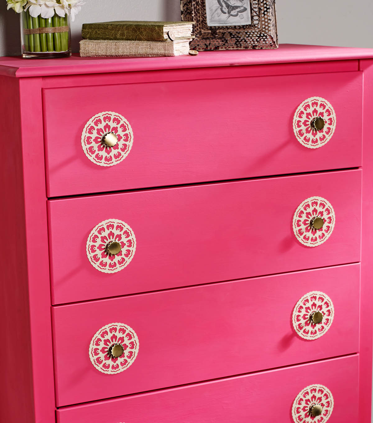 Buttercream™ Olivia Collection Stenciled Dresser