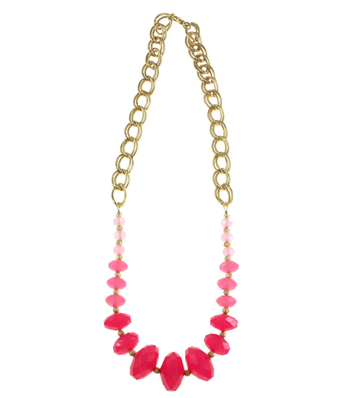 Pink Graduated Ombre Necklace
