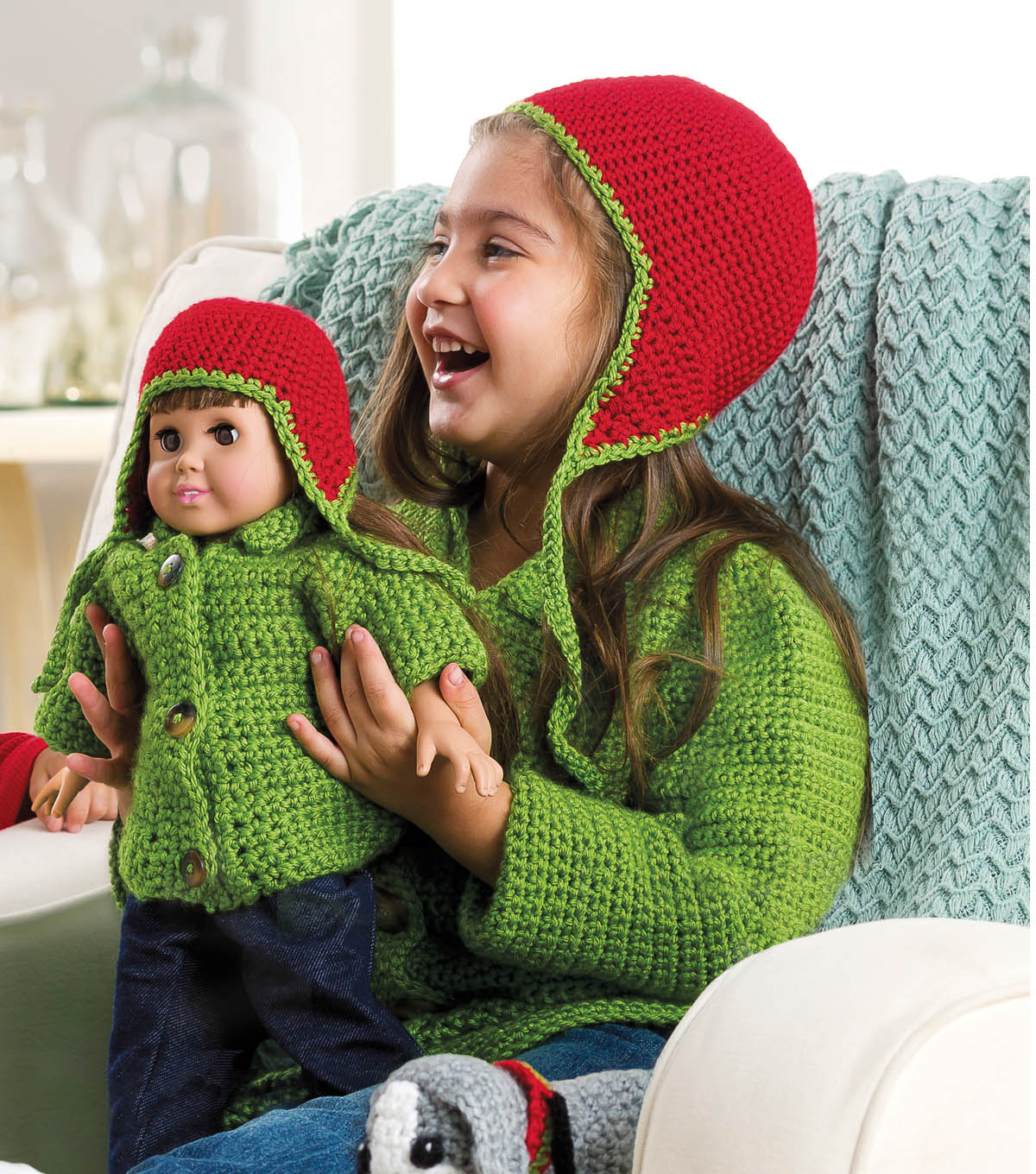 Girl\u0027s Cardigan and Hat