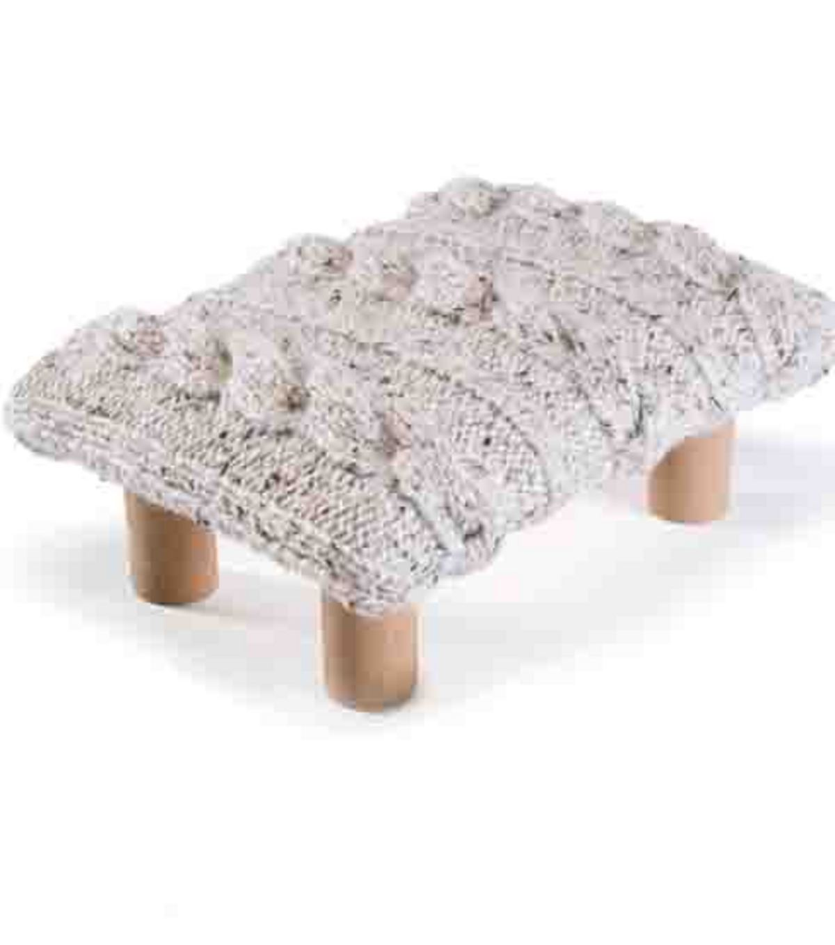 Knit-Top Footstool
