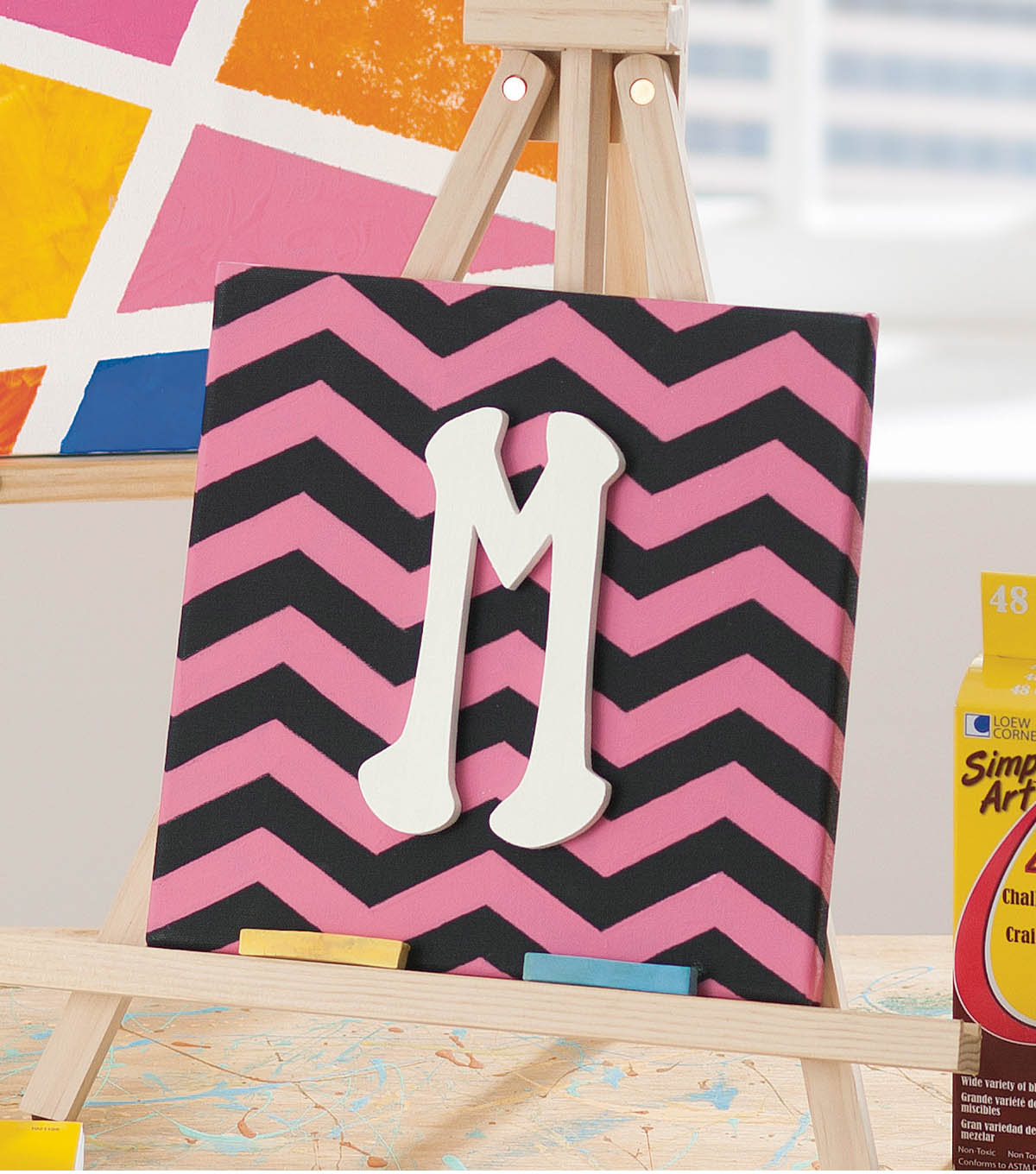 Chevron Monogram Canvas