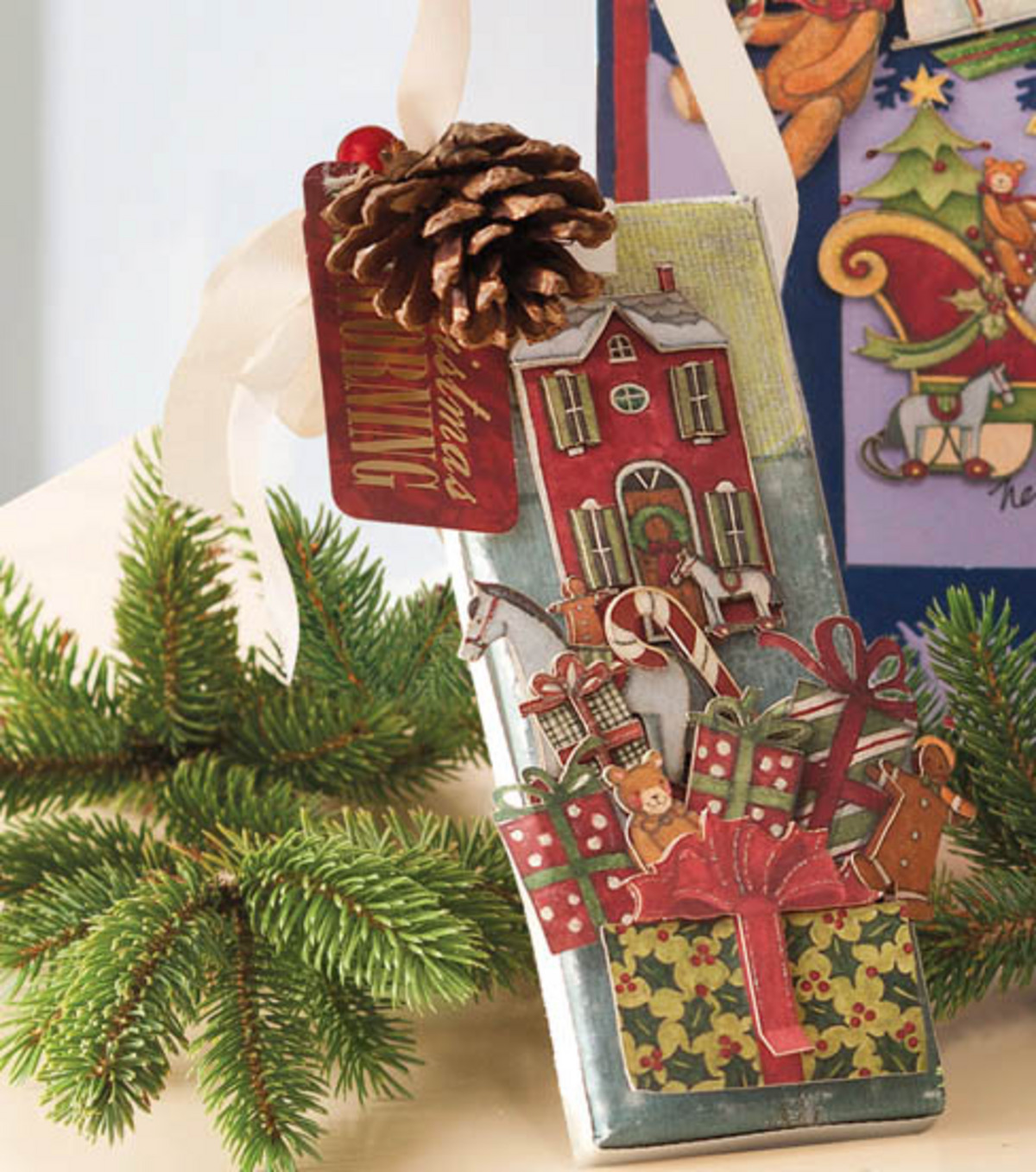 Christmas Morning Mini Canvas Ornament