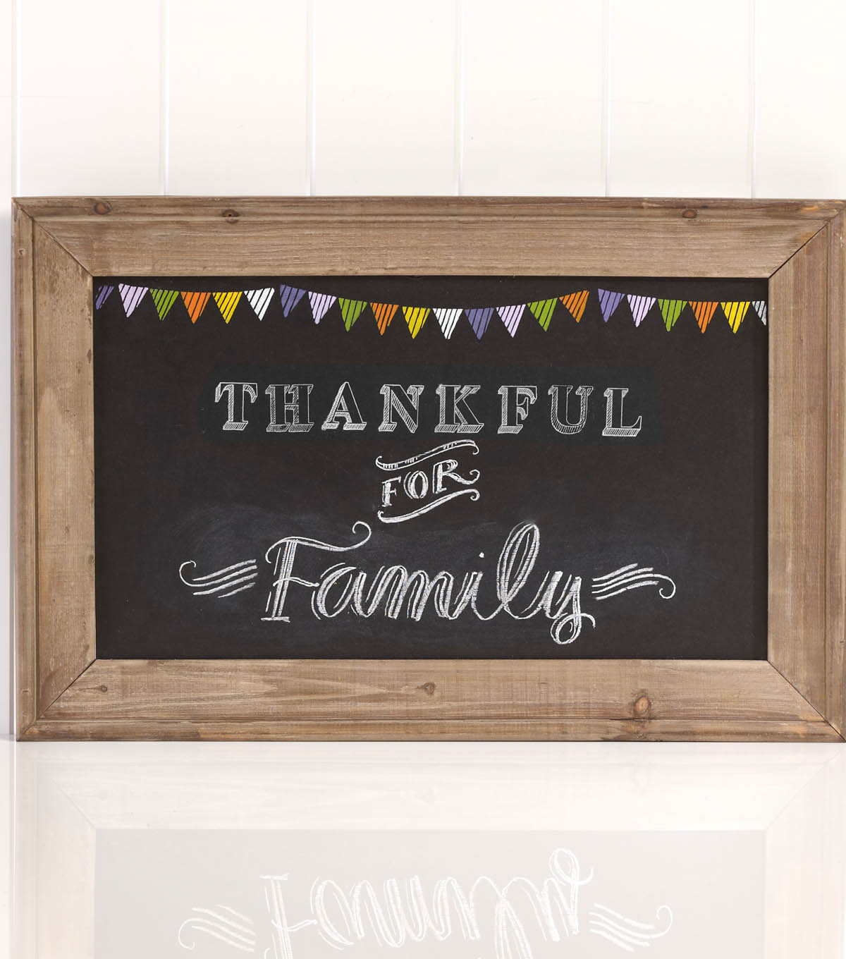 Thankful for Family Framed Chalkboard