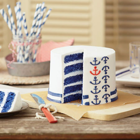 Nautical Anchor Layer Cake