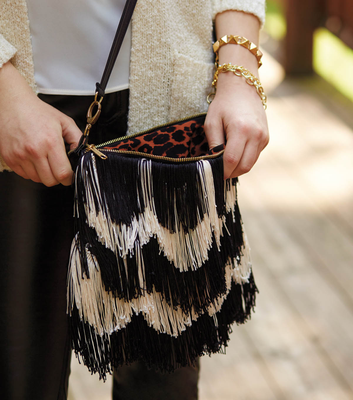 Sew Stylish Layered Fringe Purse