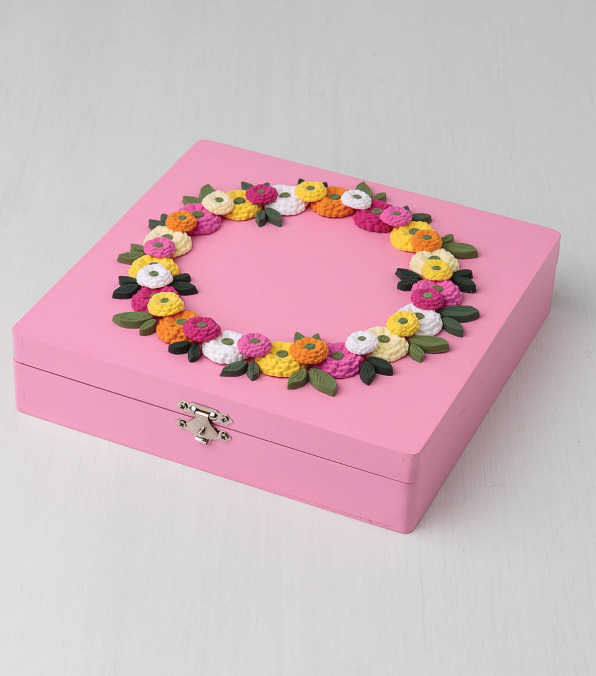 Clay Floral Wreath Box