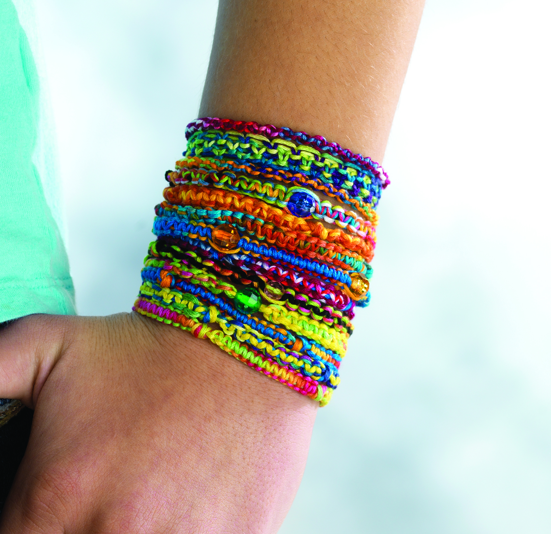 Stackable Tie Dye Friendship Bracelets