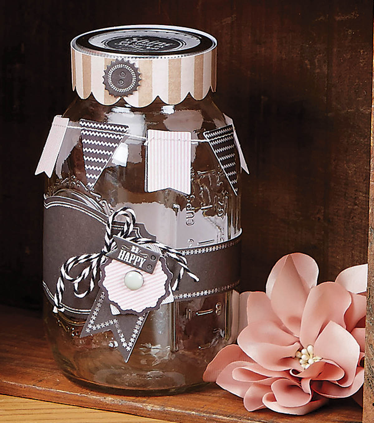 Ball Jar with Chalkboard Label