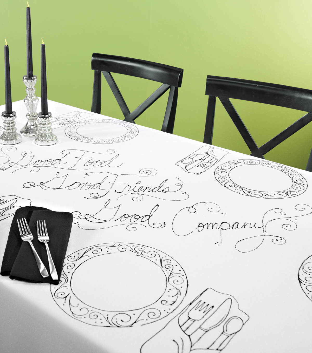 Outlined Table Setting