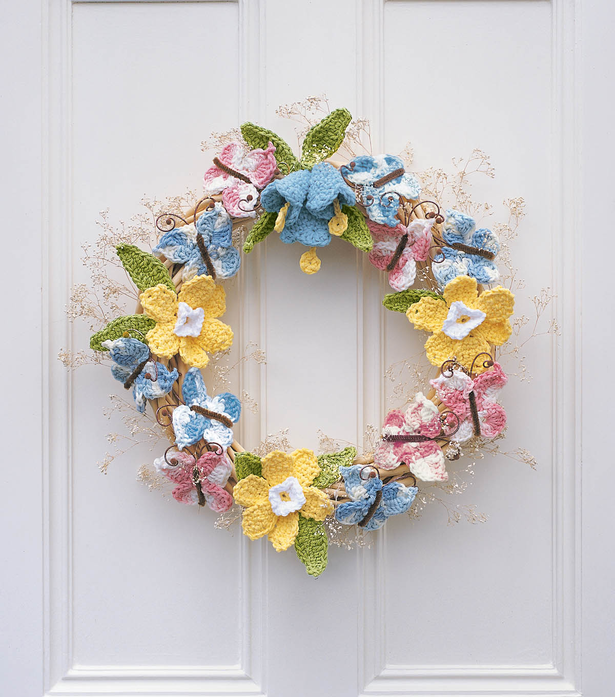 How To Make A Spring Crochet Floral Wreath