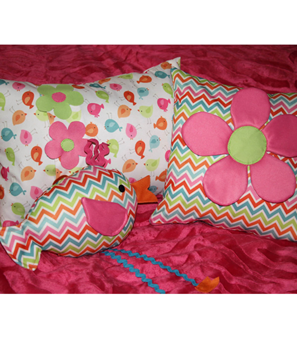 Babyville Dimensional Flower Pillow Cover