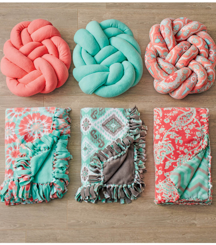 Fleece Tied Pillow Craft