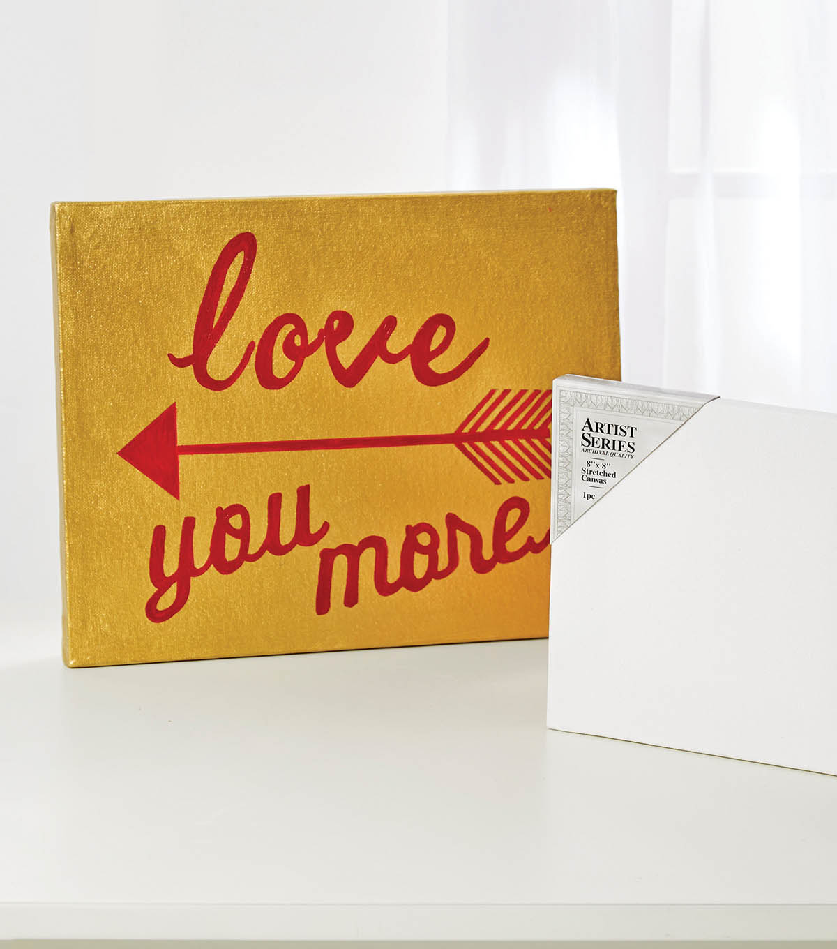 "How to Make a ""Love You More"" Canvas"