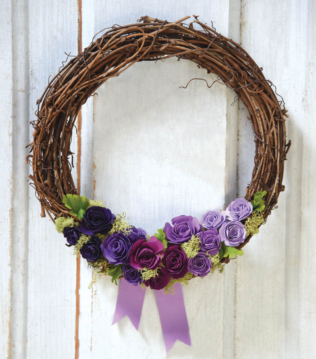 How To Make A Bitty Blossoms Wreath