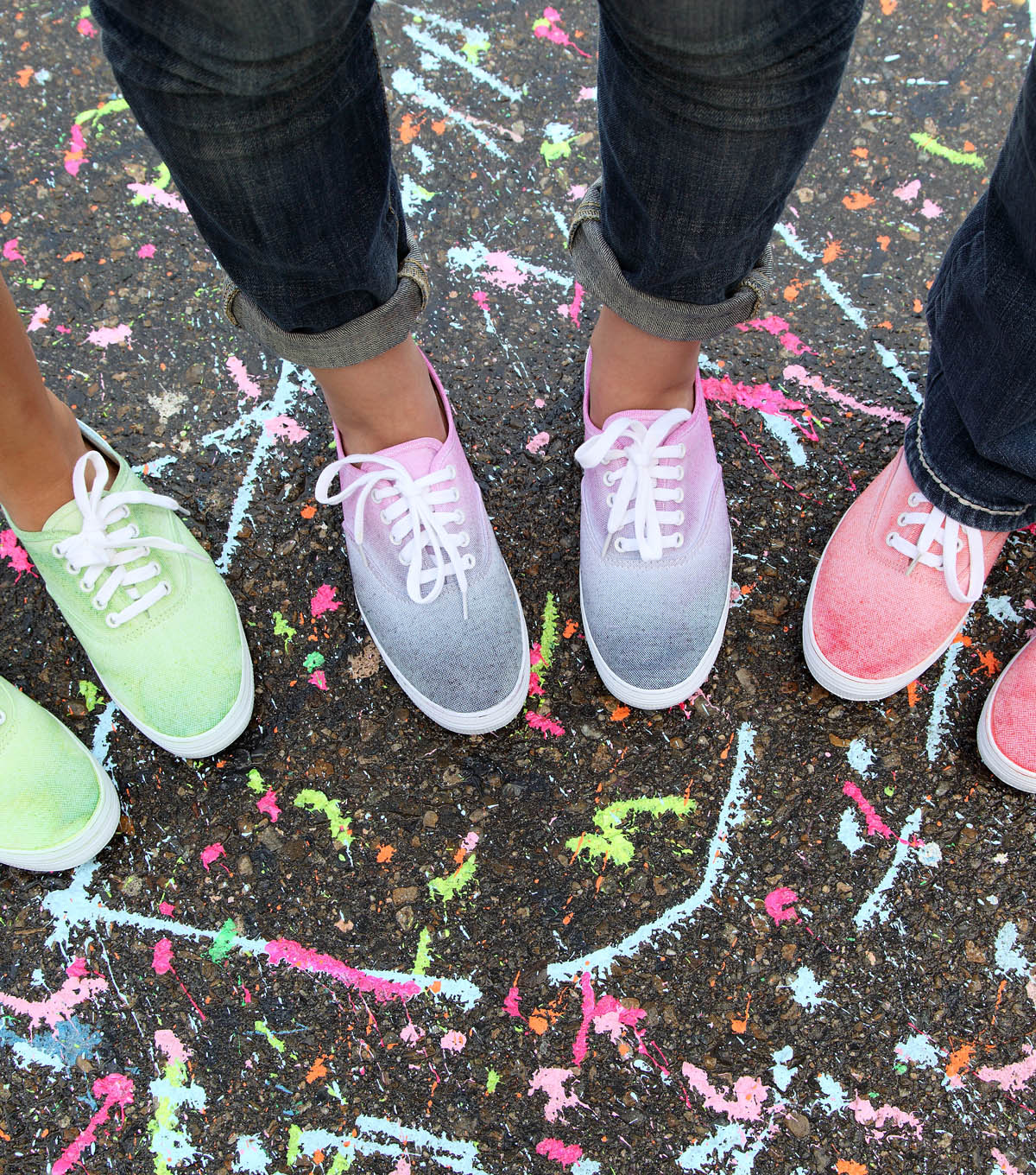 Steppin\u0027 Out in Style Ombre Dyed Sneakers