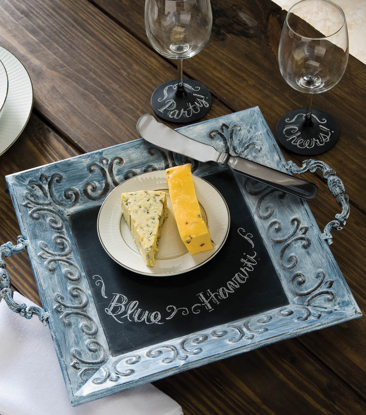 Idea Market Chalkboard Cheese Tray