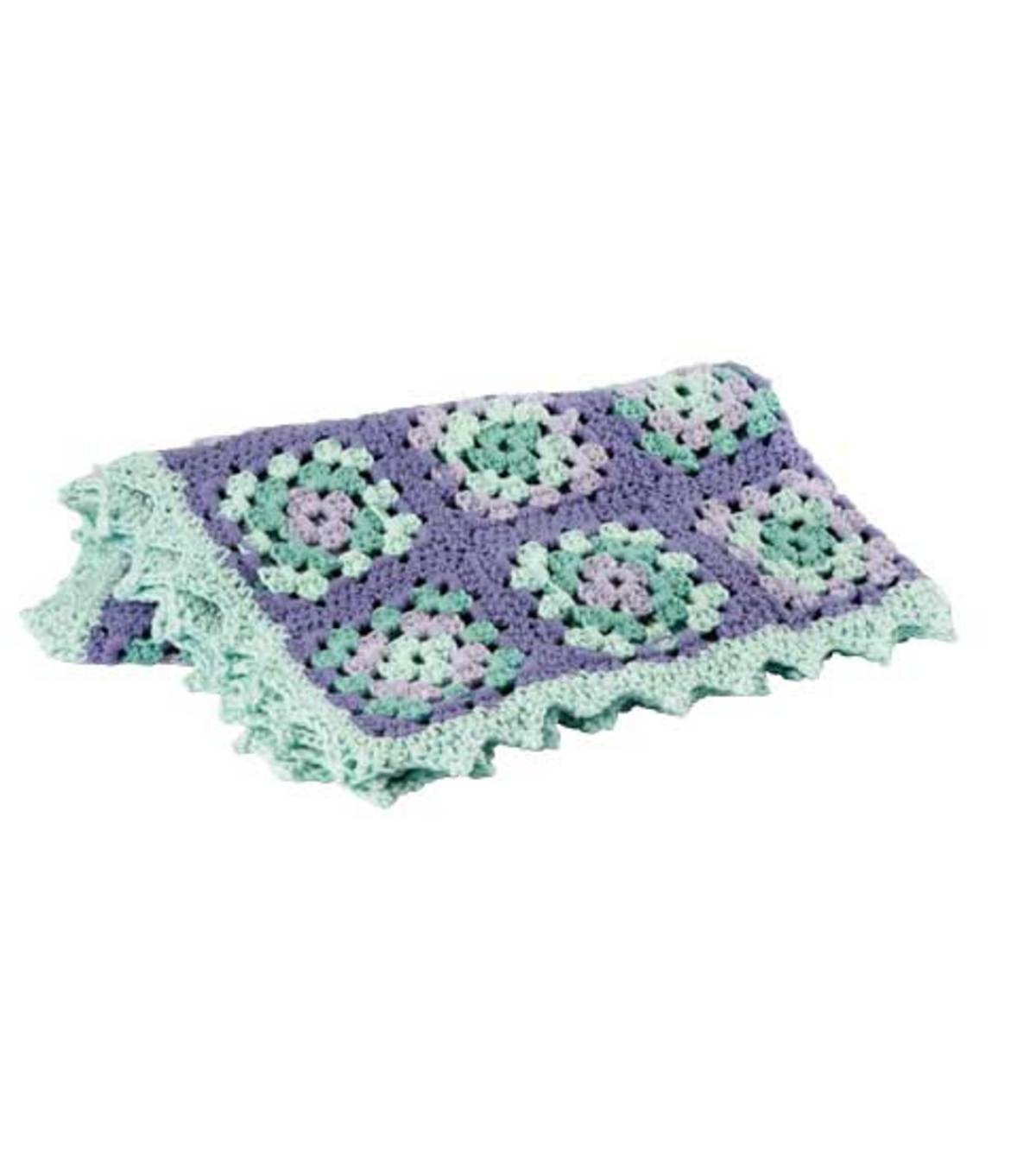 Lullaby Granny Square Baby Blanket