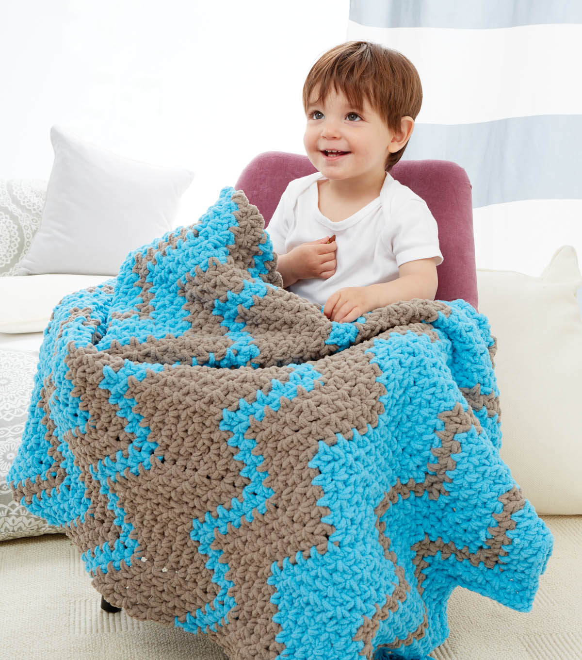 Shifting Sands Zigzag Blanket