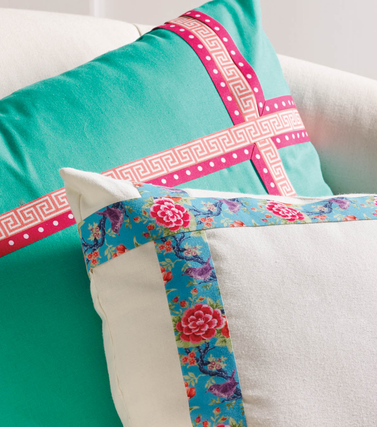 Buttercream™ Olivia Collection Trimmed Pillows