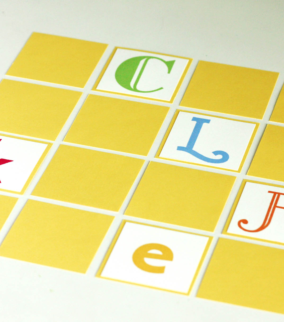 Stamped Alphabet Memory Game