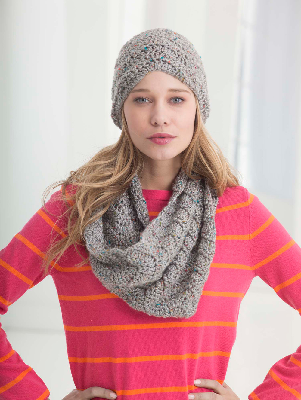 Wave Pattern Hat and Cowl