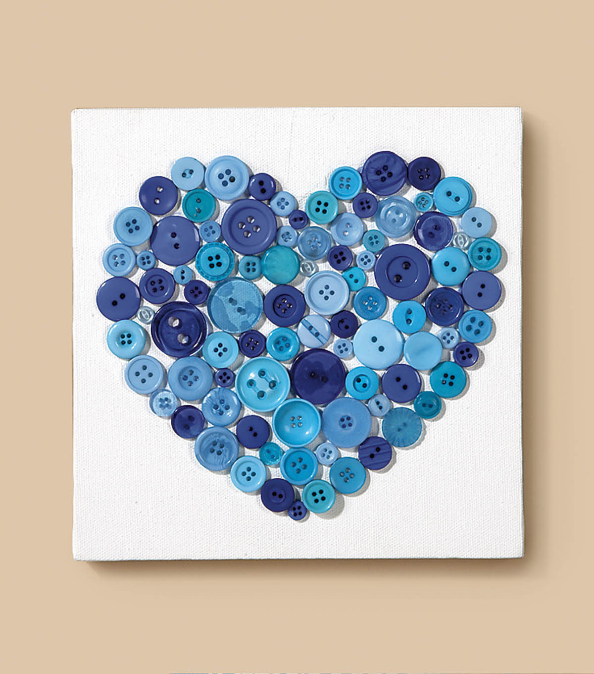 Canvas with button Hearts