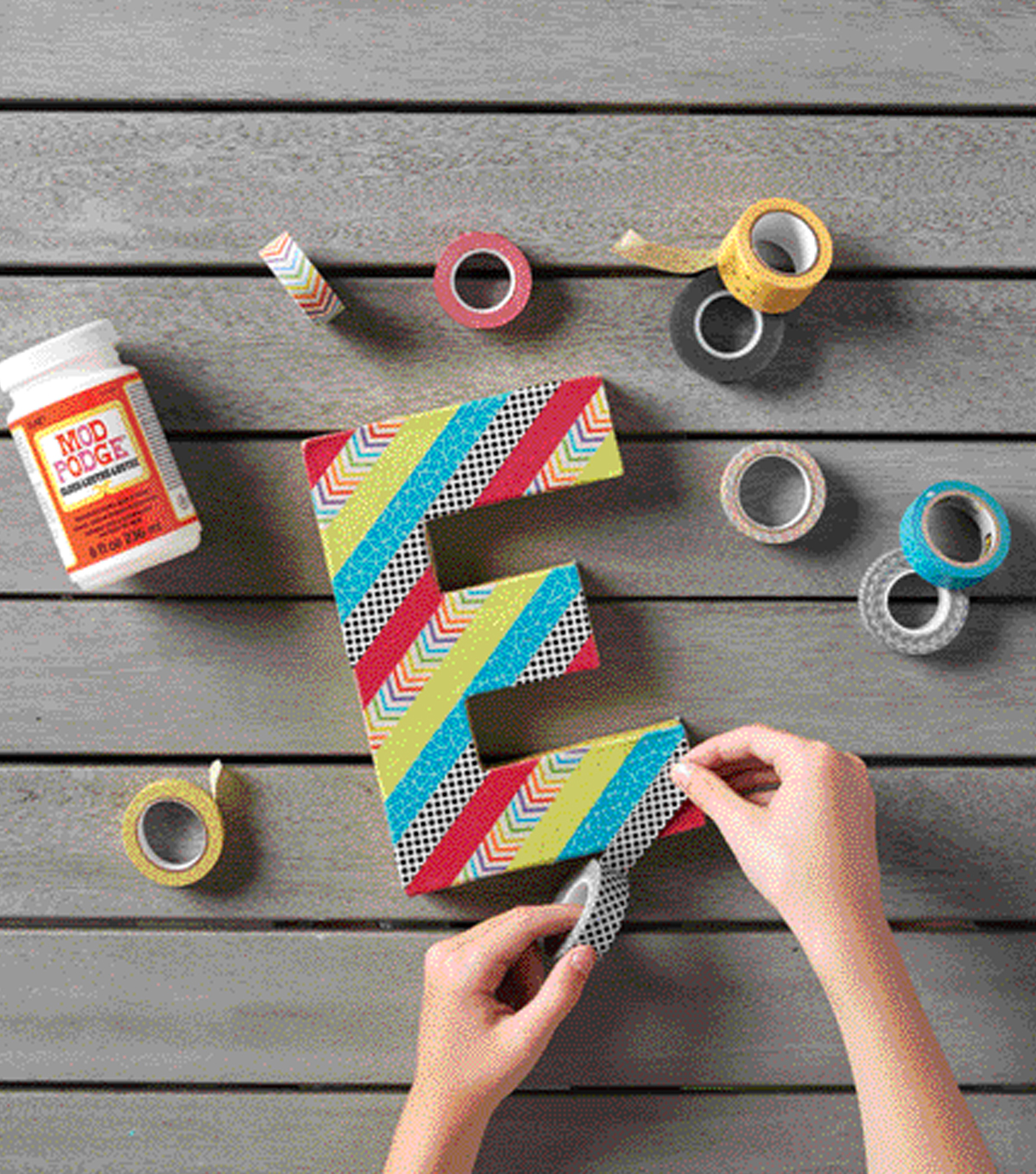 How To Make A Washi Letter