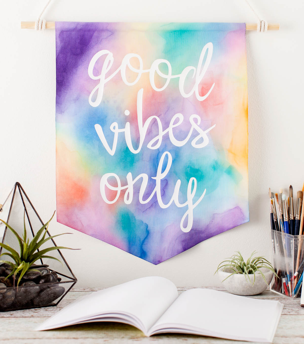 How To Make A Good Vibes Only Wall Hanging