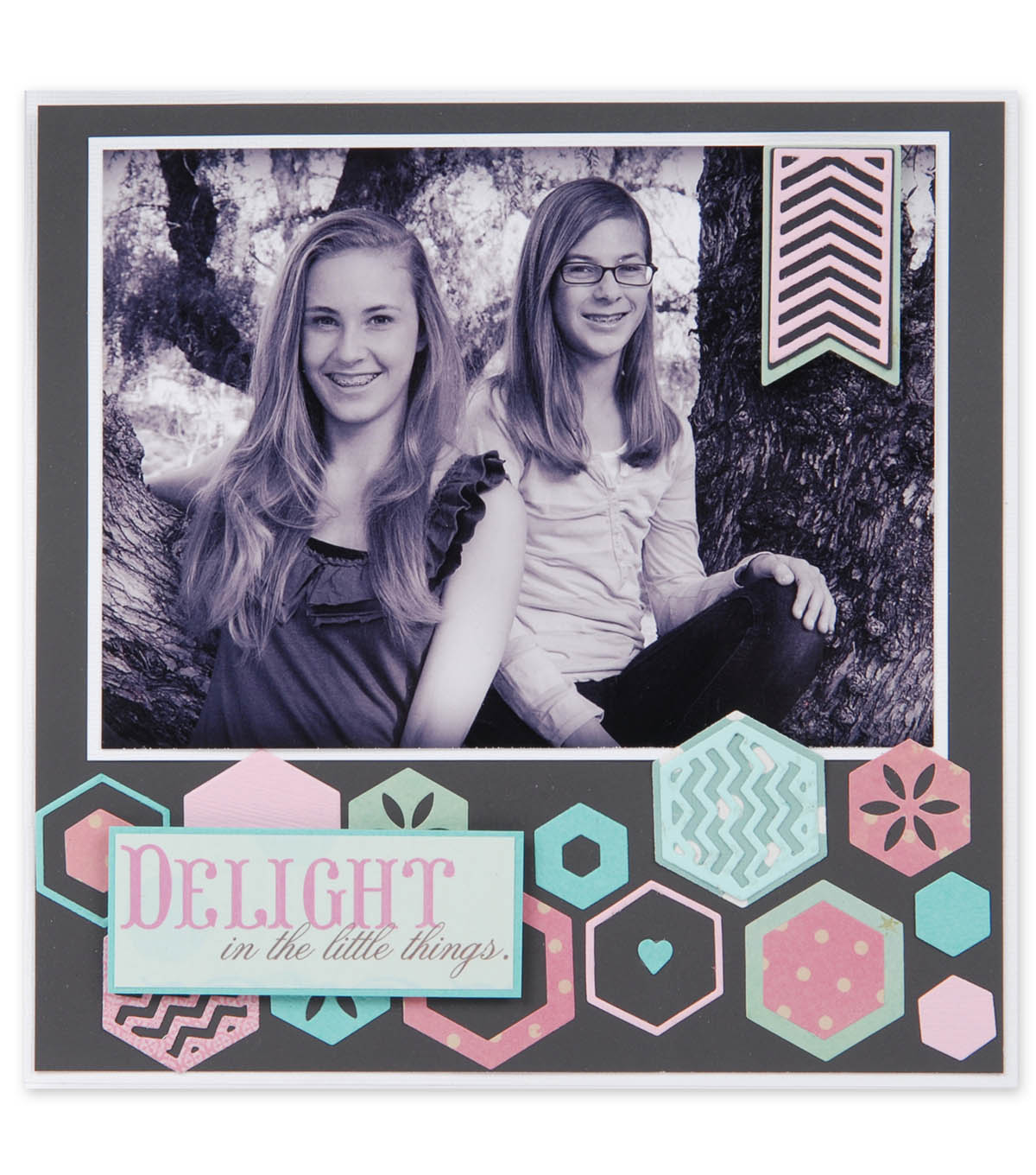 Delight in the Little Things Scrapbook Page