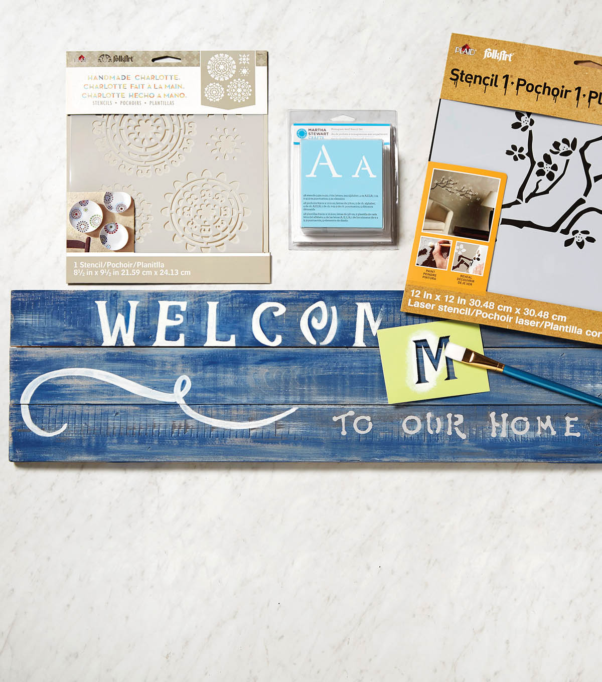 Welcome to Our Home Palette Sign