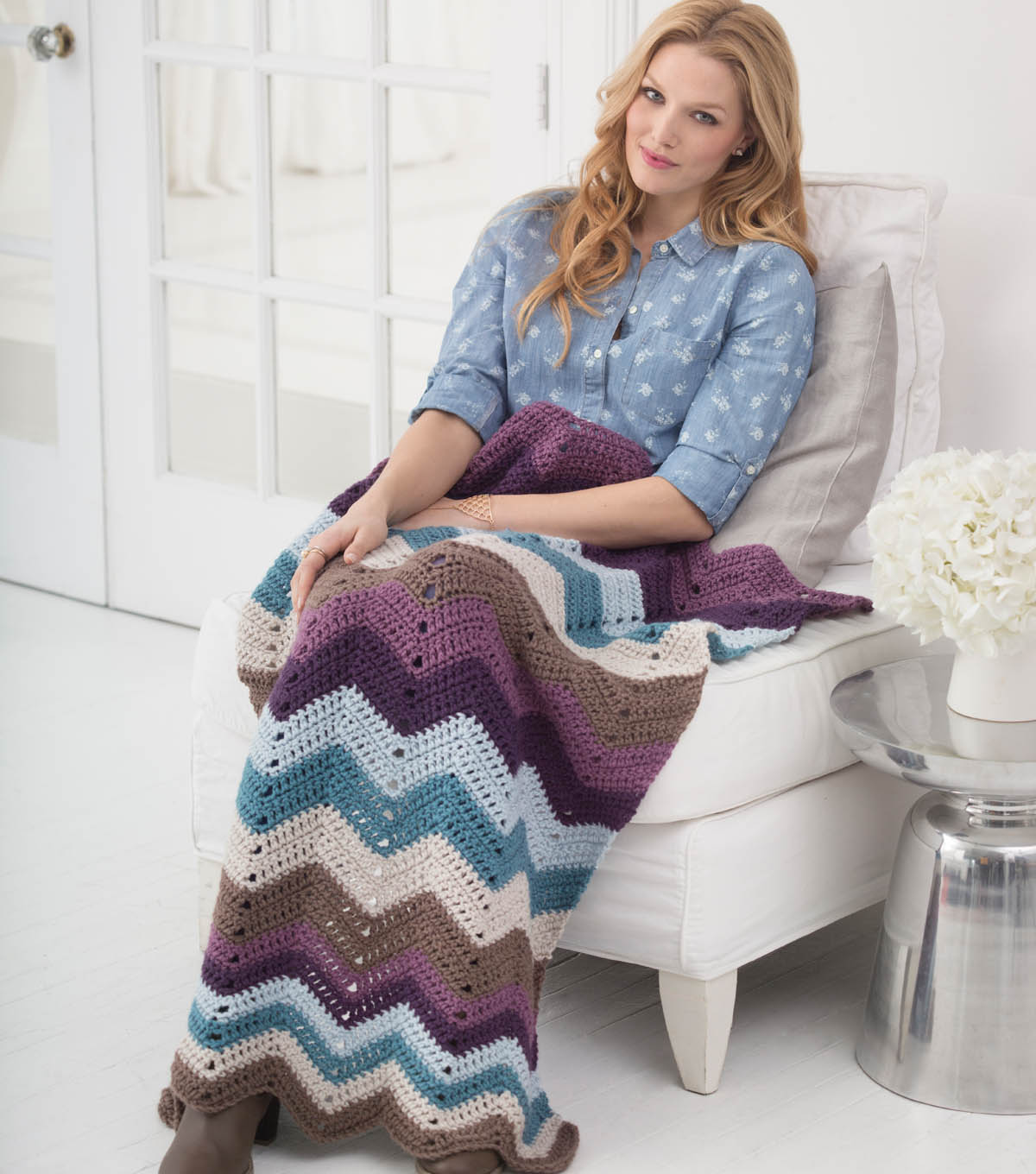 Cozy Nights Ripple Afghan