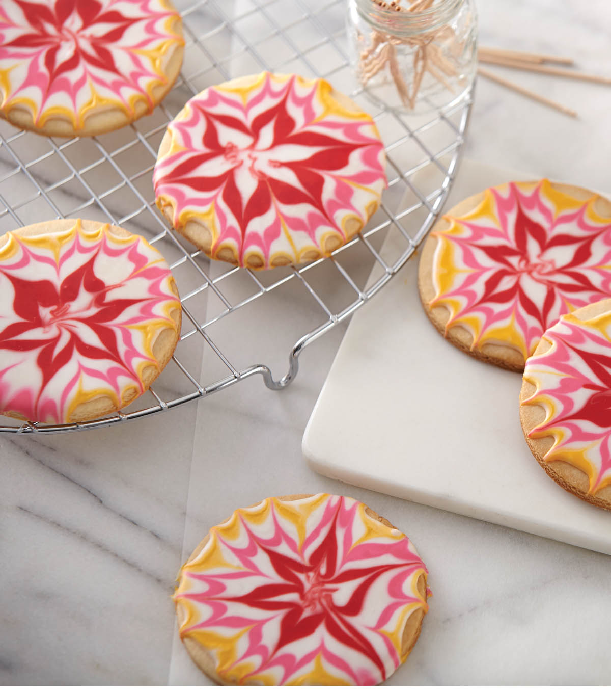 Colorful Floral Cookies