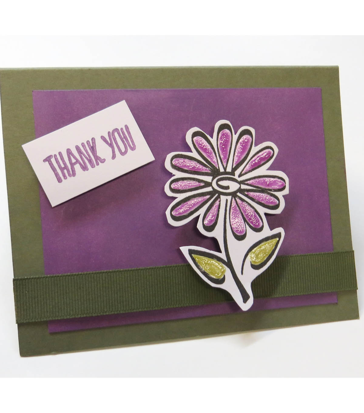 Textured Bloom Thank You Card