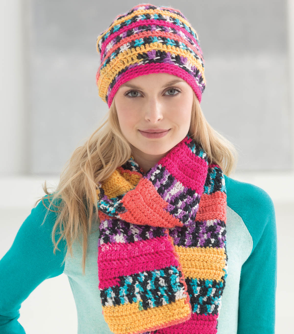 Sassy Slouch Hat and Scarf Set
