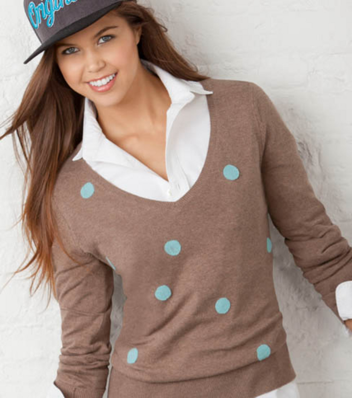 Polka Dot Felted Sweater