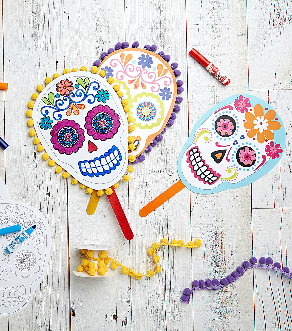 Sugar Skull Printable Masks