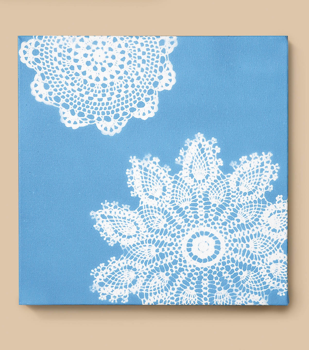 Canvas with Doily Stencil