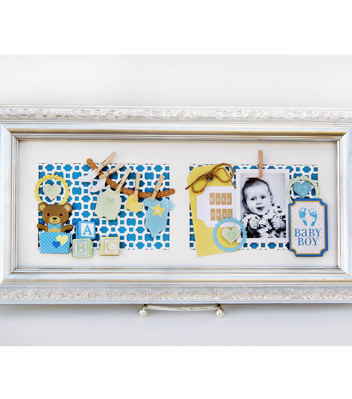 David Tutera Celebrate Card:  Baby Boy Wall Hanger